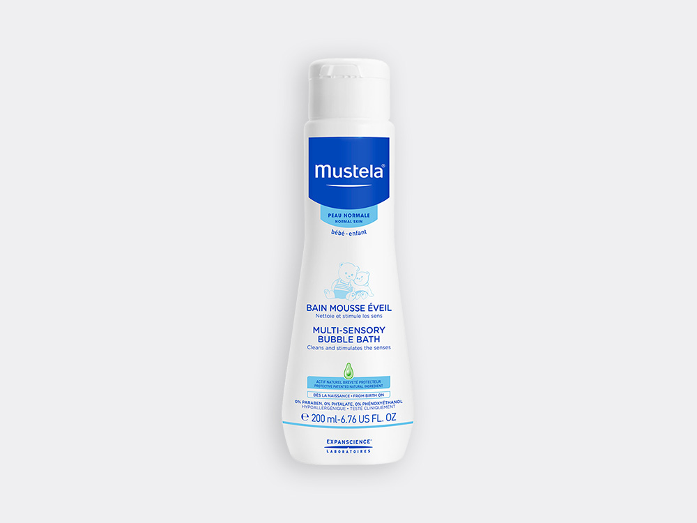 Mustela Multi sensory bubble bath for babies with normal skin