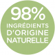 98% ingredients d'origine naturelle
