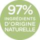 97% d'ingrédients d'origine naturelle