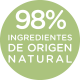 98% ingredientes de origen natural