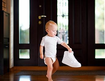 First steps, first shoes - baby & child